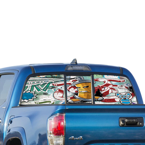 Graffiti Perforated for Toyota Tacoma decal 2009 - Present
