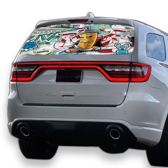 Graffiti Perforated for Dodge Durango decal 2012 - Present