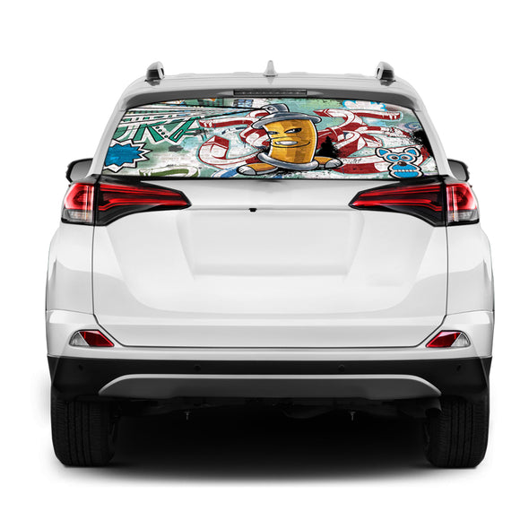 Graffiti Rear Window Perforated for Toyota RAV4 decal 2013 - Present