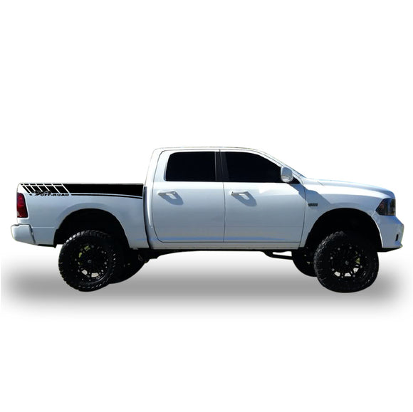 Bed Graphic  Sticker Vinyl For Dodge Ram 2009 - Present