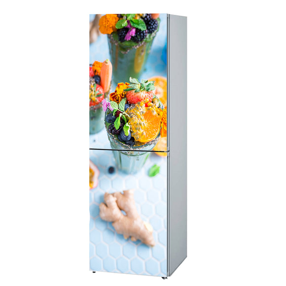 Refrigerator Decals vinyl Sweets Design Fridge Decals, Wrap