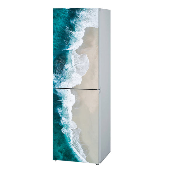 Decals for Refrigerator vinyl Wave 1 Design Fridge Decals, Wrap