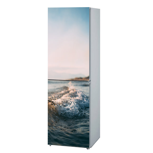 Decals for Refrigerator vinyl Wave 3 Design Fridge Decals, Wrap