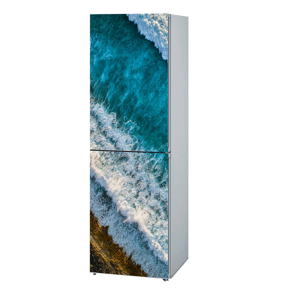 Decals for Refrigerator vinyl Wave Design Fridge Decals, Wrap