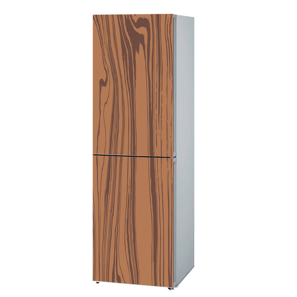 Decals for Refrigerator vinyl Wood 1 Design Fridge Decals, Wrap
