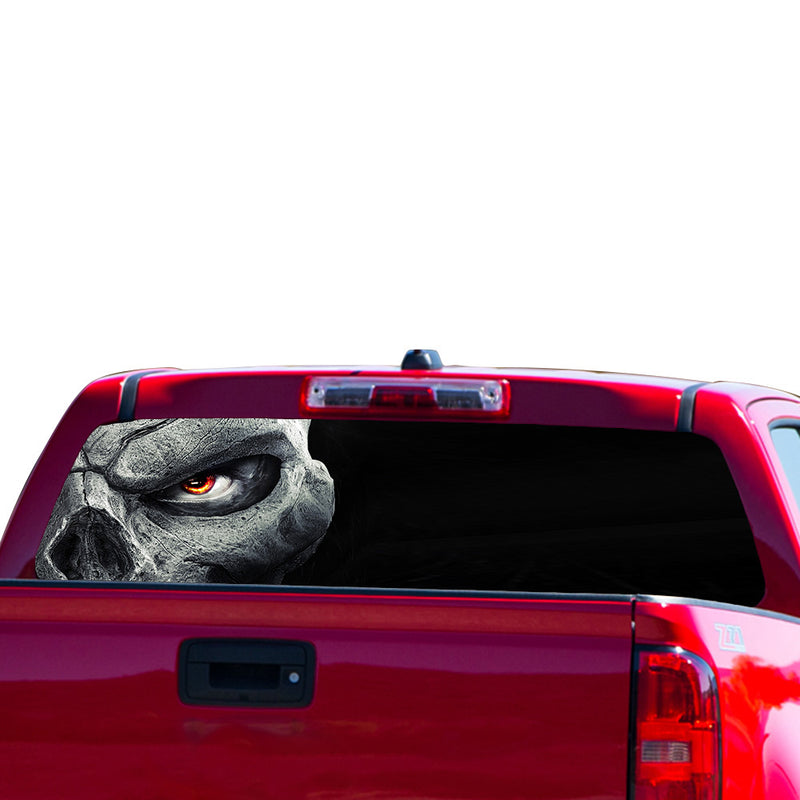 Half Skull Perforated for Chevrolet Colorado decal 2015 - Present