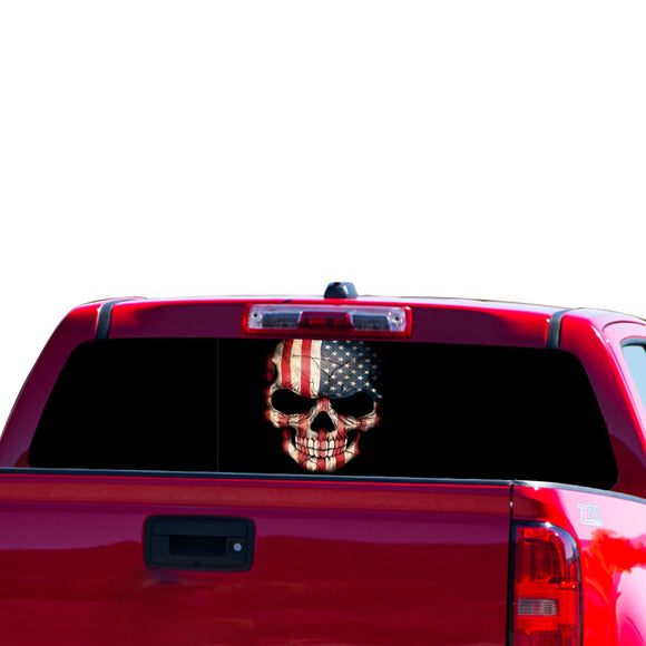 USA Skull Perforated for Chevrolet Colorado decal 2015 - Present