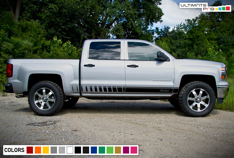 Door Decal, vinyl design for Chevrolet Silverado decal 2015 - Present
