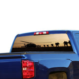 Army Helicopter Perforated for Chevrolet Silverado decal 2015 - Present