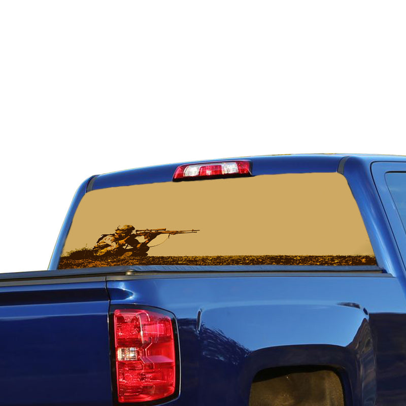 USA Sniper Perforated for Chevrolet Silverado decal 2015 - Present