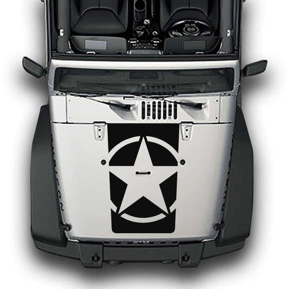 Hood Star Compatible with Jeep Wrangler JK 2010-Present