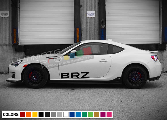 Decal side letters for Subaru BRZ 2011 - Present