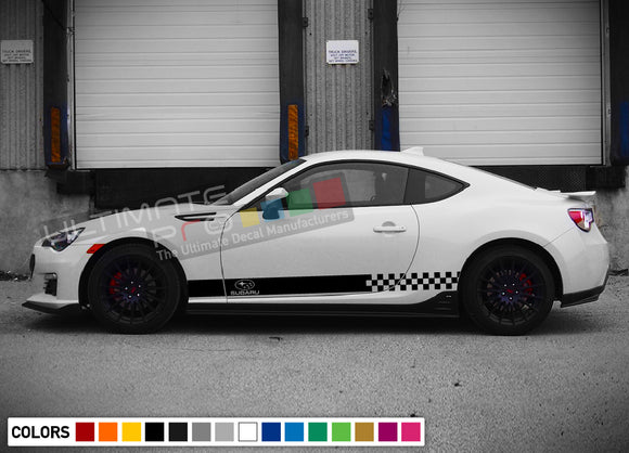 Decals side stripes for Subaru BRZ 2011 - Present