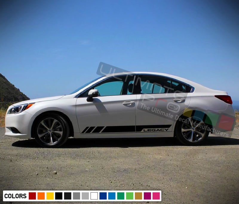 Stickers side logo stripes for Subaru Legacy 2011 - Present