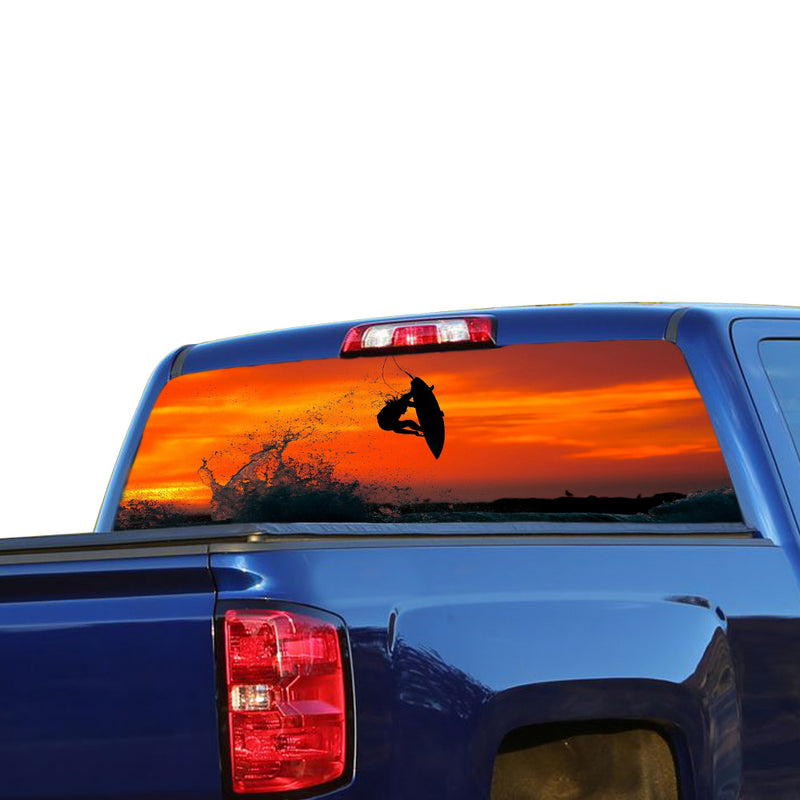 Surfing Perforated for Chevrolet Silverado decal 2015 - Present