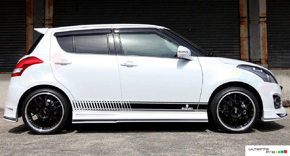 Decal Sticker Sport Vinyl Side Racing Stripes Compatible with Suzuki Swift 2008-Present