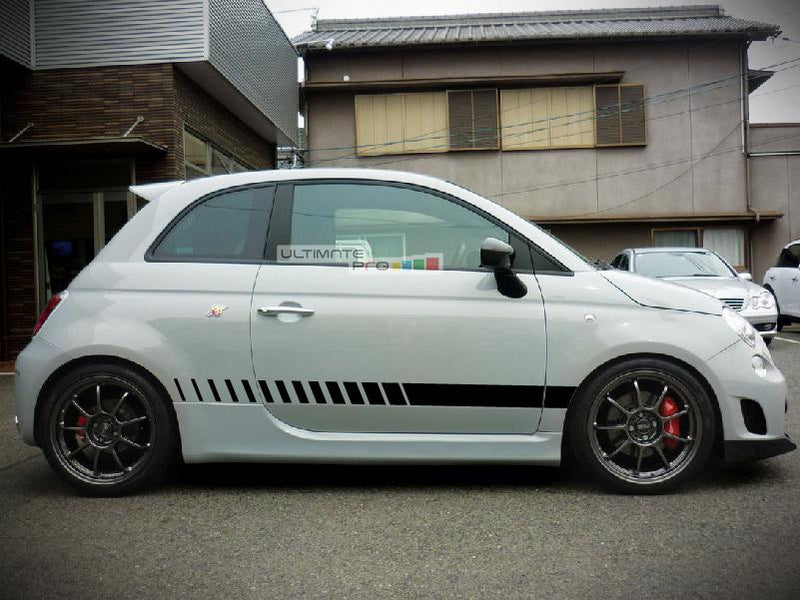 Set of Racing Side Stripes Decal Sticker Graphic Fiat 500 Abarth Performance