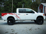 Set of Side Bed Splash Mud Decal Sticker Graphic Nissan Titan 2003-2015