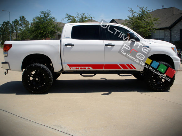 Set of Side Stripes Decal Sticker Graphic Compatible with Toyota Tundra 2007-Present