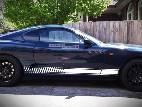 Set of Sport Side Stripes Decal Sticker Vinyl Toyota Supra