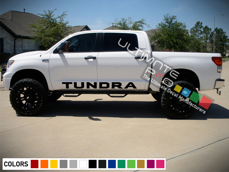 Side Decal Sticker Graphic Compatible with Toyota Tundra 2007-2017
