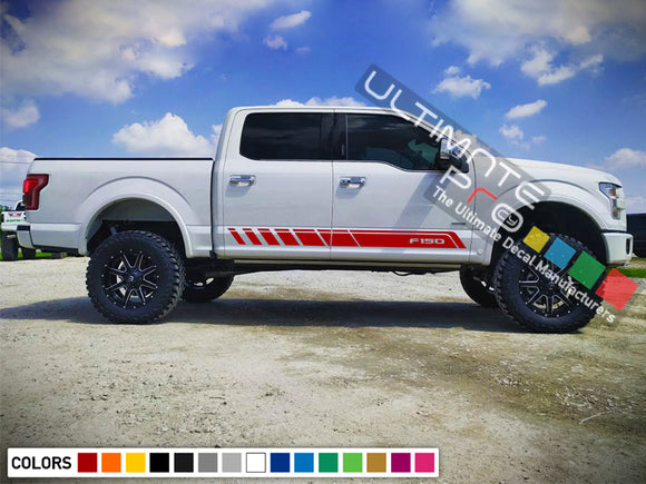 Side Stripes Decal Sticker Compatible with Ford F150 Series raptor
