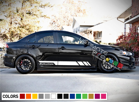 Sport Decal Vinyl Side Racing Stripes  Mitsubishi Lancer Evolution