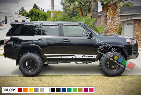 Sport Sticker Vinyl Side Stripe Kit Compatible with Toyota 4Runner