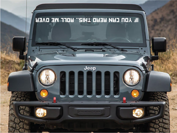 Windshield Banner Strip Decal Compatible with Jeep Wrangler Banner sunproof Front Window Sun Visor Sticker