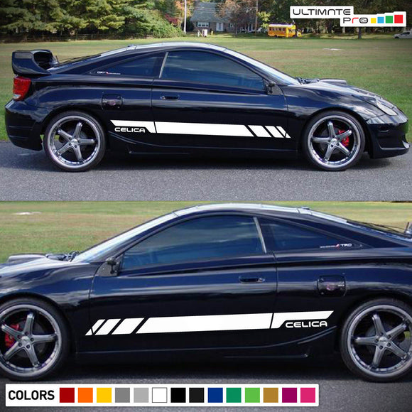 Decal Side Door Stripes Toyota Celica 1999-2006 GT S Racing Lip Wing