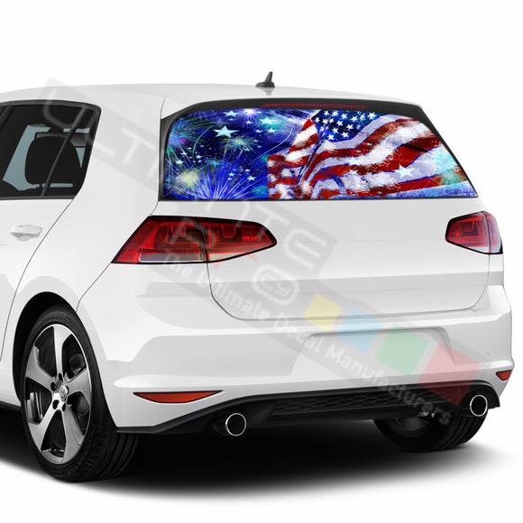 4th July Perforated Decals compatible with Volkswagen Golf