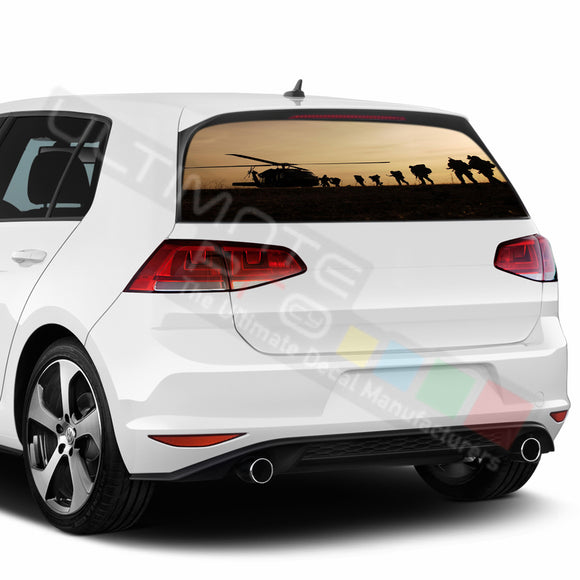 Army Perforated Decals compatible with Volkswagen Golf