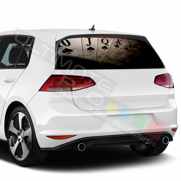 Poker Perforated Decals compatible with Volkswagen Golf