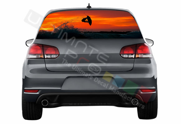 Surf Perforated Decals compatible with Volkswagen Golf