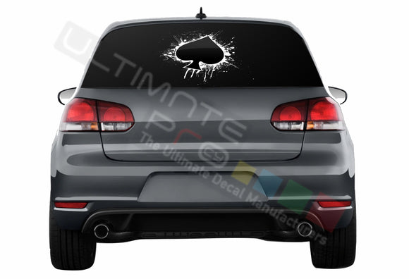 Ace Perforated Decals compatible with Volkswagen Golf