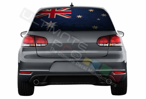 Australian Perforated Decals compatible with Volkswagen Golf