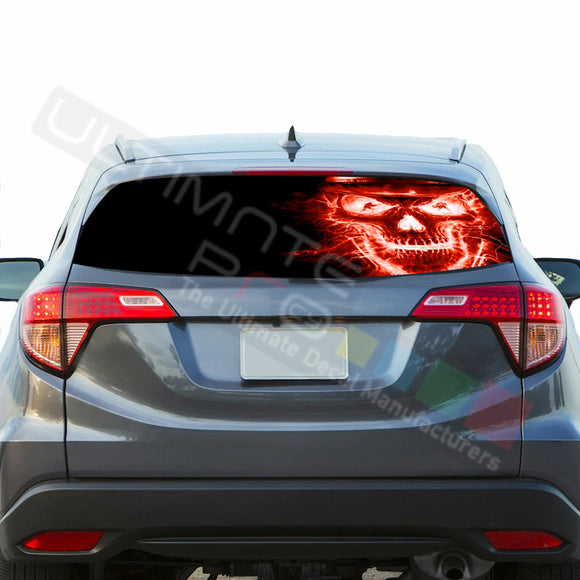 Skull Perforated Decals stickers compatible with Honda HRV