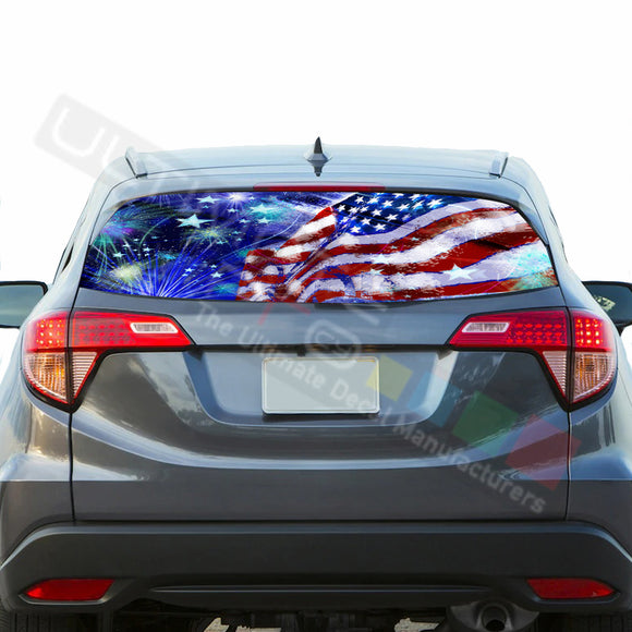 4th July Perforated decals graphics vinyl compatible with Honda HRV 2014-Present