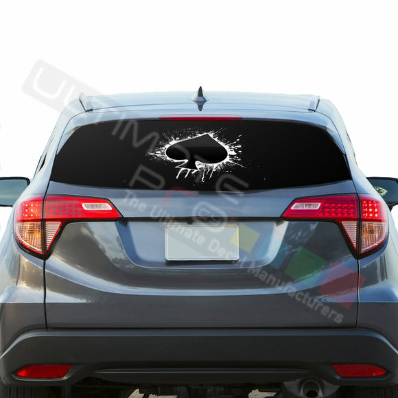 Ace Perforated Decals stickers compatible with Honda HRV