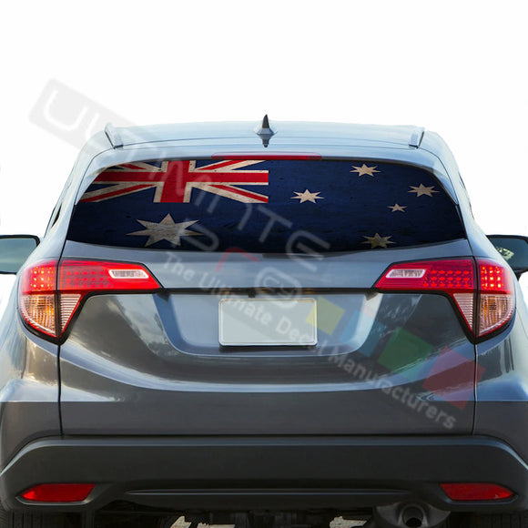 Australian Perforated Decals stickers compatible with Honda HRV