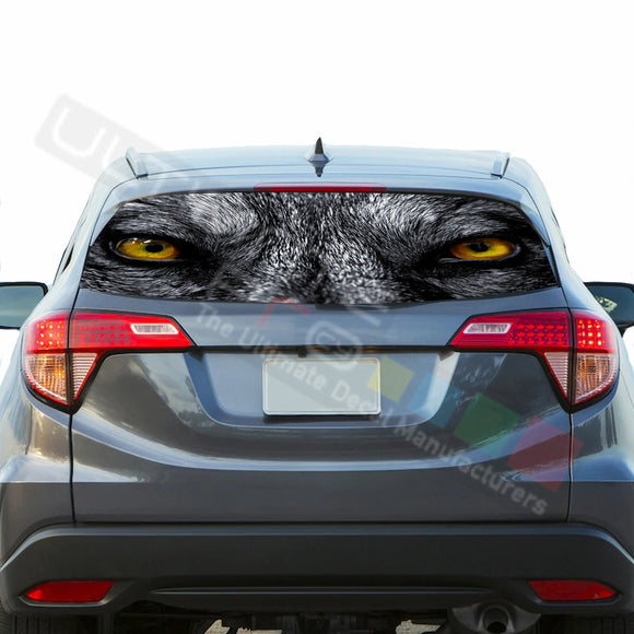 Wolf Perforated Decals stickers compatible with Honda HRV