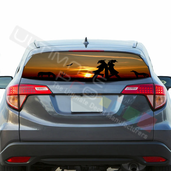 West  Perforated Decals stickers compatible with Honda HRV