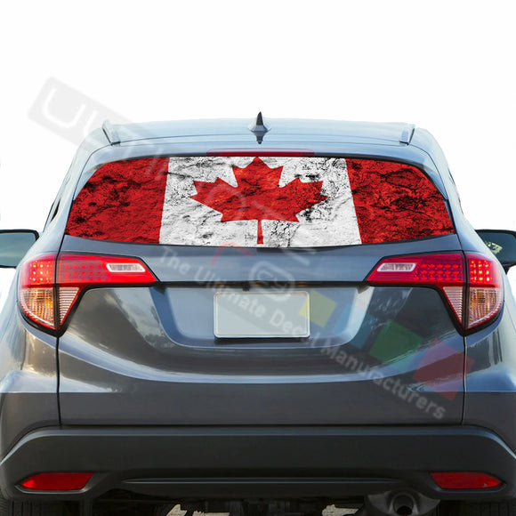 Canada Perforated Decals stickers compatible with Honda HRV