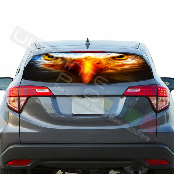 Eagle Perforated Decals stickers compatible with Honda HRV