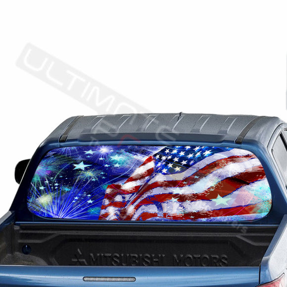 4th July Perforated Decals stickers compatible with Mitsubishi L200