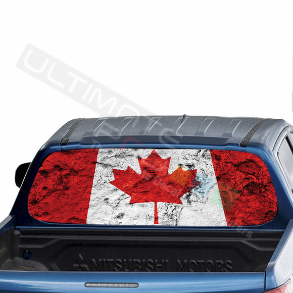 Canada Perforated Decals stickers compatible with Mitsubishi L200