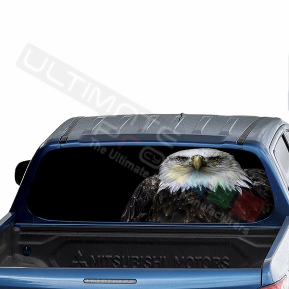 Eagle 2 Perforated Decals stickers compatible with Mitsubishi L200