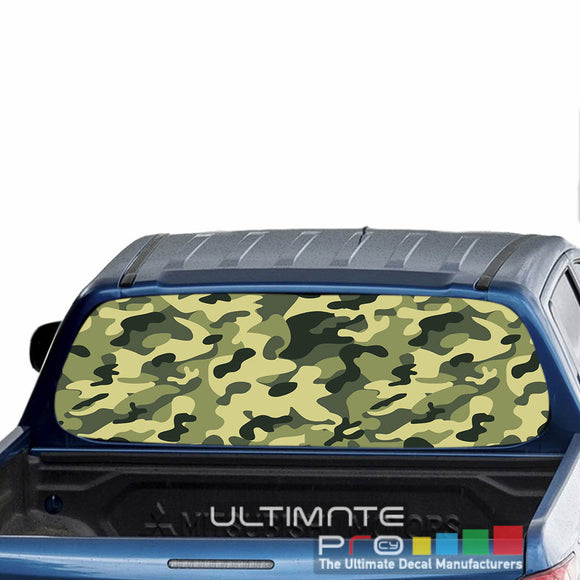 Camo Perforated Decals stickers compatible with Mitsubishi L200