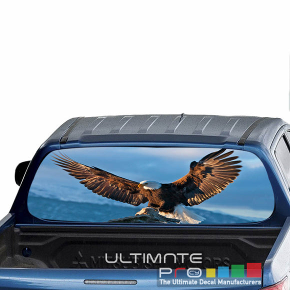 Eagle 1 Perforated Decals stickers compatible with Mitsubishi L200