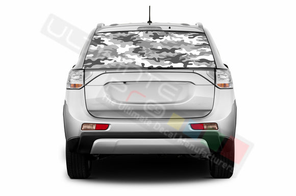 Camo Perforated Decals compatible with Mitsubishi Outlander